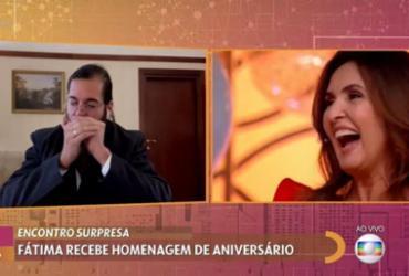 Fátima Bernardes ganha homenagem de Túlio Gadêlha no Encontro | Reprodução/ Tv Glogo