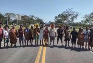 Índios fazem novos protestos contra marco temporal no sul da Bahia | Reprodução | TV Santa Cruz