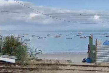 Homem morre após se afogar na praia de Itacaranha | Reprodução | TV Bahia