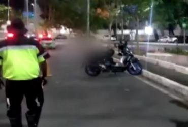 Motociclista morre após derrapar e bater em poste no Vale do Canela | Reprodução