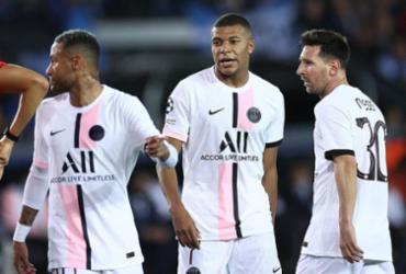 PSG empata com o Brugge em 1º jogo com Messi, Neymar e Mbappé | Kenzo Tribouillard | AFP