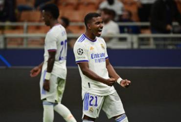 Rodrygo marca na vitória do Real sobre Inter pela Liga dos Campeões |