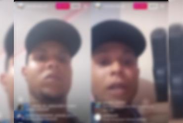 Criminosos transmitem sequestro na Engomadeira em live no Instagram | Reprodução/ Instagram