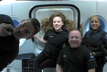 Passageiros da SpaceX retornam à Terra após três dias no espaço | Handout | Inspiration4 | AFP