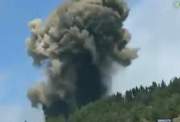 Vulcão espanhol entra em erupção, mas chance de tsunami é remota, afirmam especialistas | Reprodução | Televisión Canárias