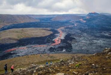 Islândia tem a erupção vulcânica mais longa desde 1960 | Jeremie Richard | AFP