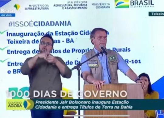Bolsonaro diz ter chegado à presidência por 'obra de Deus' e critica adversários | Reprodução: Youtube