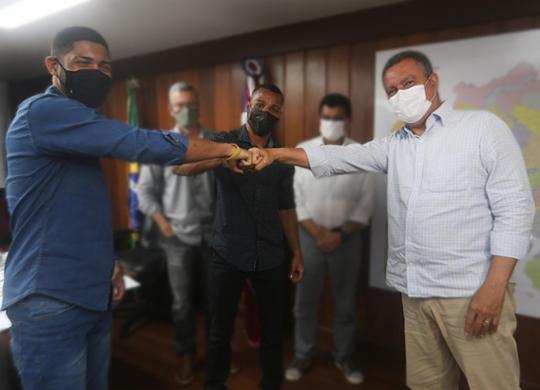 Rui Costa apresenta projetos para o boxe baiano em reunião com Robson e Hebert | Carol Garcia | GOV-BA
