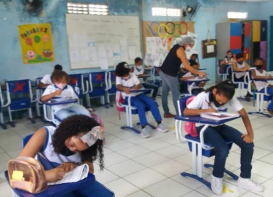Aulas completamente presenciais são retomadas na rede municipal de ensino em Salvador | Divulgação | Smed