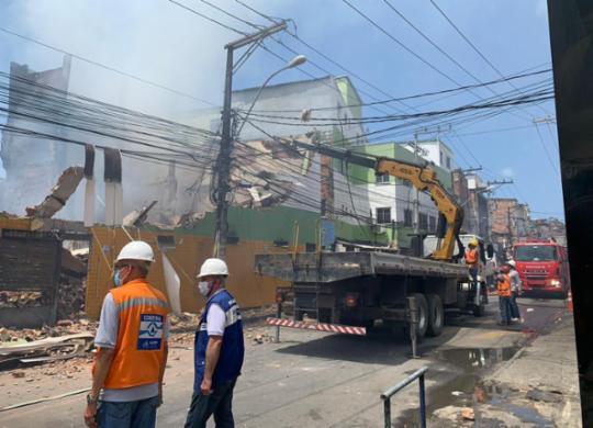 Imóvel que pegou fogo no Vale da Muriçoca está condenado e será demolido   Divulgação   Codesal