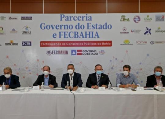 Rui Costa se reúne com presidentes de consórcios para alinhar ações na Bahia | Divulgação
