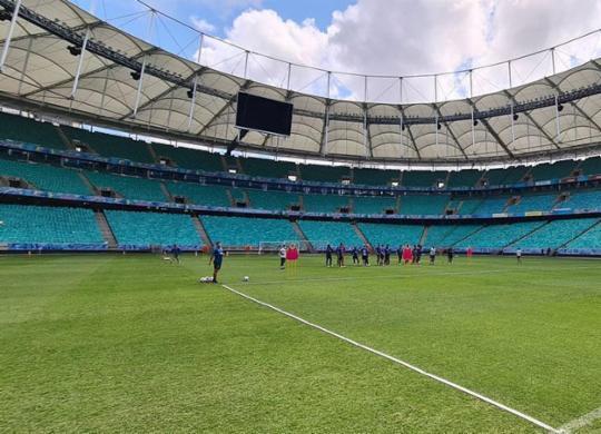 Sesab avalia pedido do Bahia para contar com 30% de público na Fonte Nova em outubro   Felipe Oliveira   EC Bahia