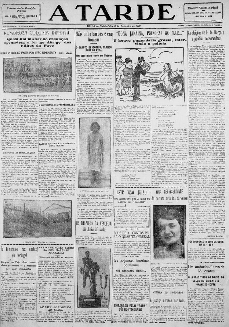 Reportagem abordou história que aponta diversas violências contra uma mulher transgênero | Foto: Arquivo A TARDE | 6.2.1930