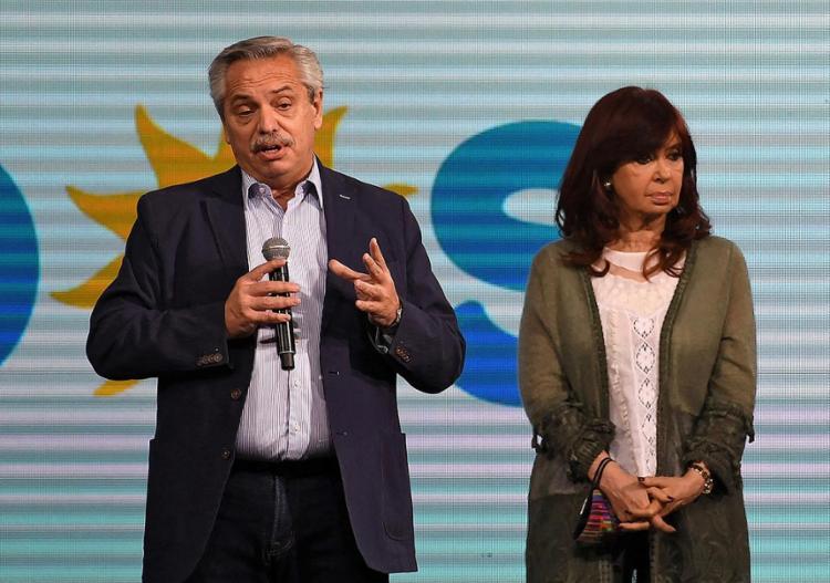 Alberto Fernández, presidente da Argentina, e a vice, Cristina Kirchner, em foto de 13 de setembro de 2021 | Foto: Maximiliano Luna | AFP - Foto: Maximiliano Luna | AFP