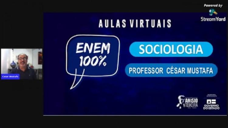 Aula virtual integra Projeto ENEM 100%   Foto: Divulgação - Foto: Divulgação