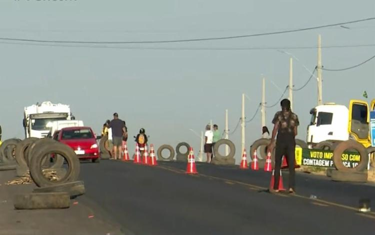 Protestos dos caminhoneiros durou três dias - Foto: Reprodução | TV Bahia