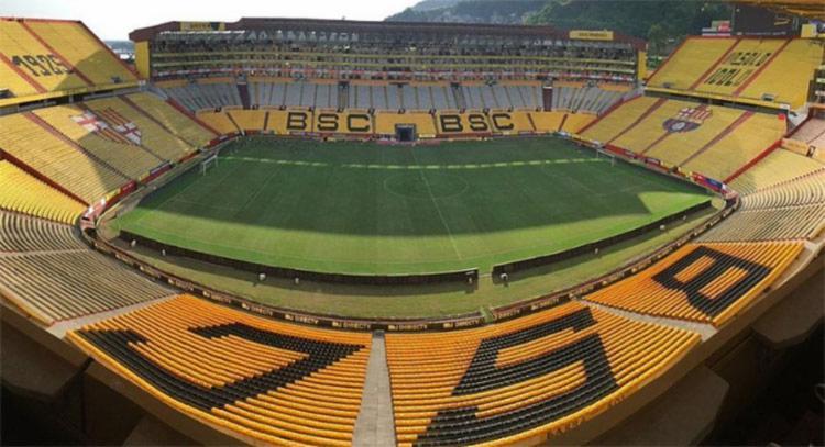O clube equatoriano solicitou que seu estadio Banco Pichincha recebesse 30% da capacidade total de 57 mil espectadores neste duelo | Foto: Reprodução - Foto: Reprodução