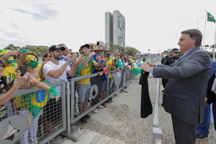 Presidente segue com falas golpistas como nas manifestações do 7 de setembro | Foto: Marcos Corrêa | PR - Foto: Marcos Corrêa | PR