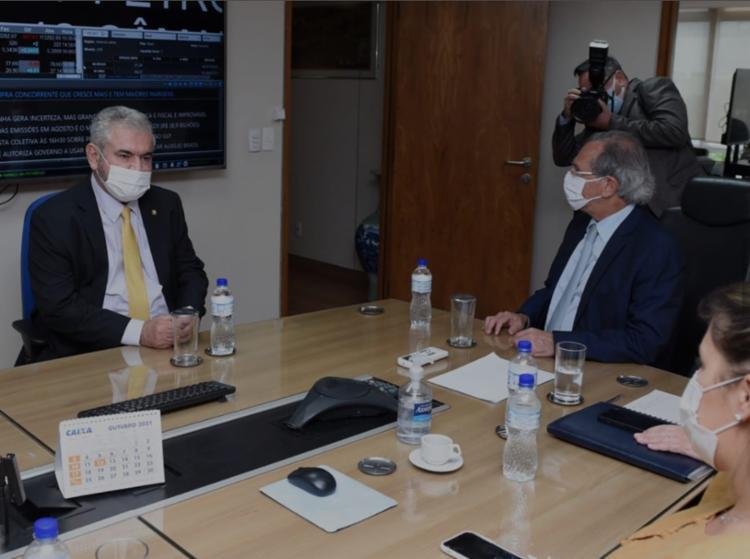 O senador baiano se encontrou com o ministro da Economia, Paulo Guedes, nesta segunda-feira | Foto: Divulgação - Foto: Divulgação