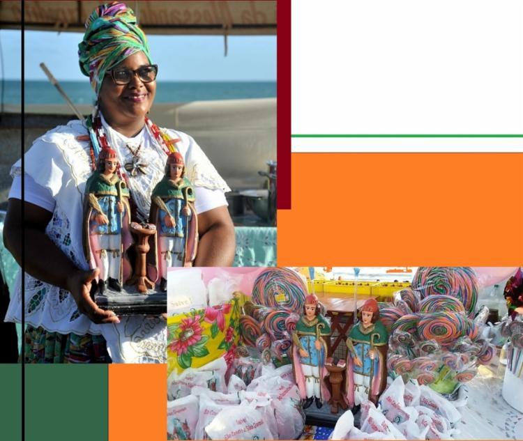 No dia 27 de Setembro, Alessandra cumpre mais uma promessa no tabuleiro onde trabalha, em Itapuã. No local ela vai distribuir caruru, doces e brinquedos para as crianças
