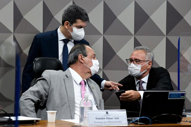 Os três principais membros da CPI da Pandemia, senadores Omar Aziz, Randolfe Rodrigues e Renan Calheiros | Foto: Roque de Sá | Agência Senado - Foto: Roque de Sá | Agência Senado