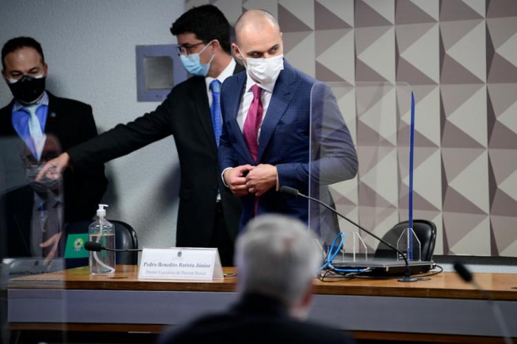 Pedro Benedito Batista Júnior presta depoimento nesta quarta à CPI da Covid | Foto: Pedro França | Agência Senado - Foto: Pedro França | Agência Senado