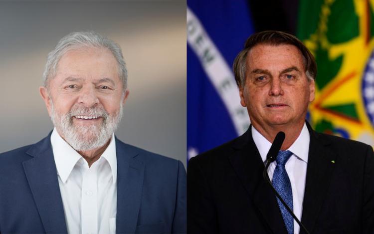 Lula e Bolsonaro seguem como cenário mais possível para disputa de um segundo turno - Foto: Divulgação