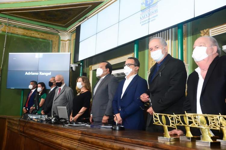 Representantes do segmento e autoridades participaram da sessão na Câmara de Salvador   Foto: Divulgação - Foto: Divulgação