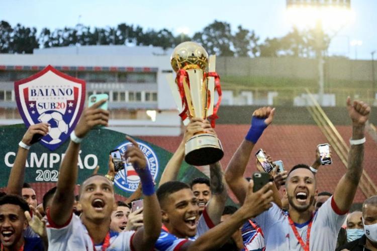 Tricolor venceu o jogo de ida por 4 a 2 e assegurou o empate e 1 a 1, no Barradão   Foto: Felipe Oliveira   EC Bahia - Foto: Felipe Oliveira   EC Bahia