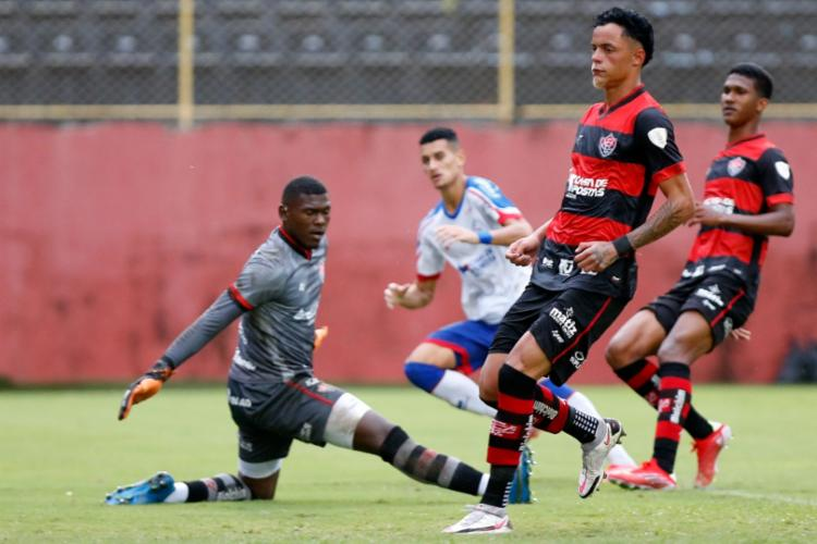 Everton aproveitou falha da defesa para empatar a partida   Foto: Felipe Oliveira   EC Bahia