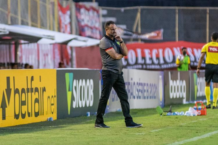 Lopes também voltou a pontuar os erros de finalização nas oportunidades construídas   Foto: Pietro Carpi   EC Vitória - Foto: Pietro Carpi   EC Vitória