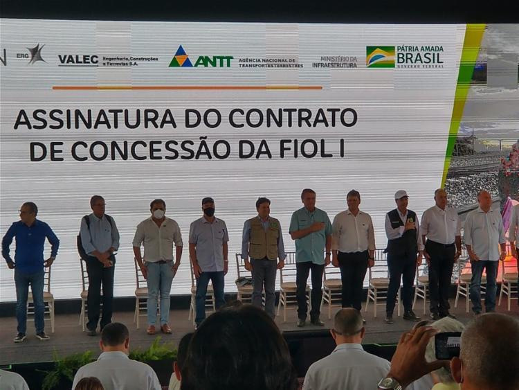 O ato concede, formalmente, à empresa Bahia Mineração S.A (Bamin) a administração do trecho   Foto: Nayla Santos   TV Sudoeste - Foto: Nayla Santos   TV Sudoeste