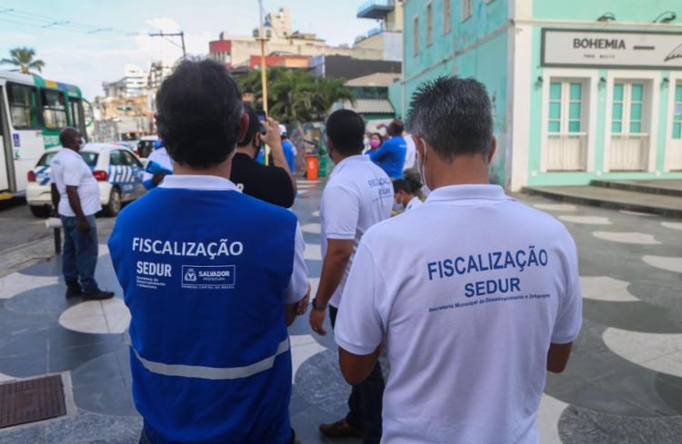 Oito aglomerações foram dispersadas   Foto: Bruno Concha/Secom - Foto: Bruno Concha/Secom