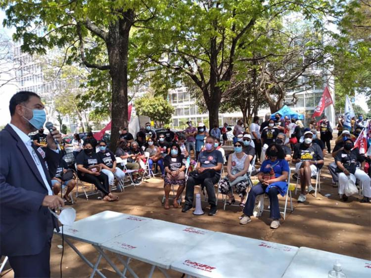 Fórum Baiano em Defesa do Serviço Público durante manifestação contra a PEC32, em Brasília | Foto: Reprodução | Facebook - Foto: Reprodução | Facebook