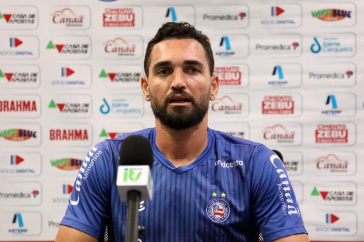 Atacante é o artilheiro do Brasileirão, com oito gols   Foto: Felipe Oliveira   EC Bahia - Foto: Felipe Oliveira   EC Bahia
