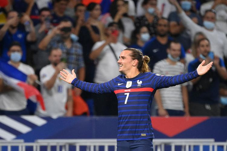 O atacante Griezmann foi o autor dos dois gols na partida | Foto: Franck Fife | AFP - Foto: Franck Fife | AFP