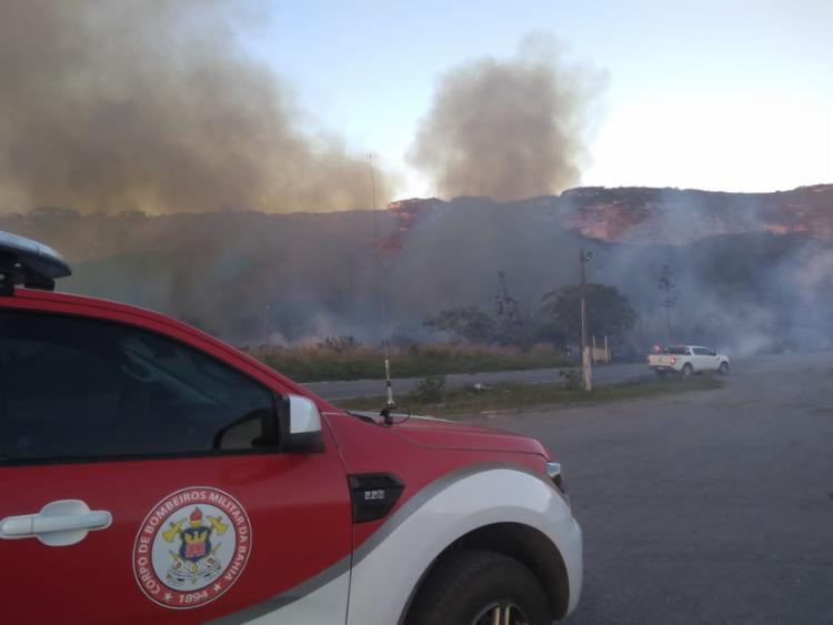 A causa do incêndio ainda é desconhecida   Foto: Divulgação   CBMBA - Foto: Divulgação   CBMBA