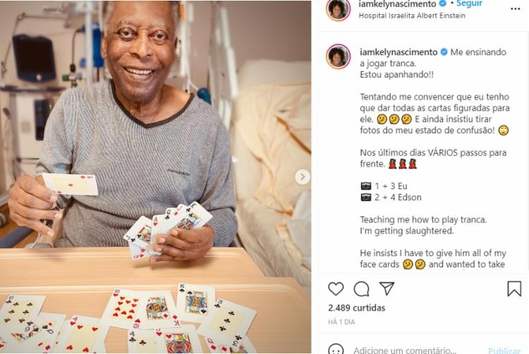 Nas redes sociais, Kely Nascimento tem atualizado os fãs do ex-jogador | Foto: Reprodução | Rede Social - Foto: Reprodução | Rede Social