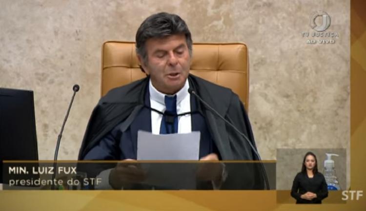 Presidente do STF comentou manifestações do Sete de Setembro | Foto: Reprodução | YouTube - Foto: Reprodução | YouTube