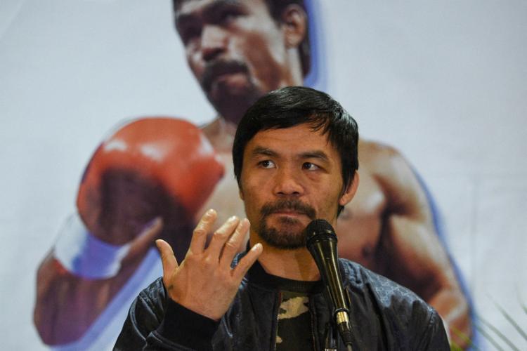 O futuro político da lenda do boxe já era discutido há alguns meses | Foto: Ted Aljibe | AFP - Foto: Ted Aljibe | AFP