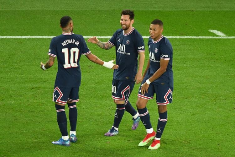Com o resultado, PSG do trio MMN assumiu a liderança do Grupo A | Foto: Alain Jocard | AFP - Foto: Alain Jocard | AFP