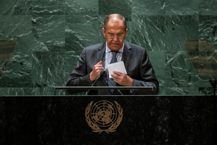 O ministro russo de Assuntos Exteriores, Serguei Lavrov, quer uma postura mais ativa dos EUA | Foto: AFP - Foto: AFP