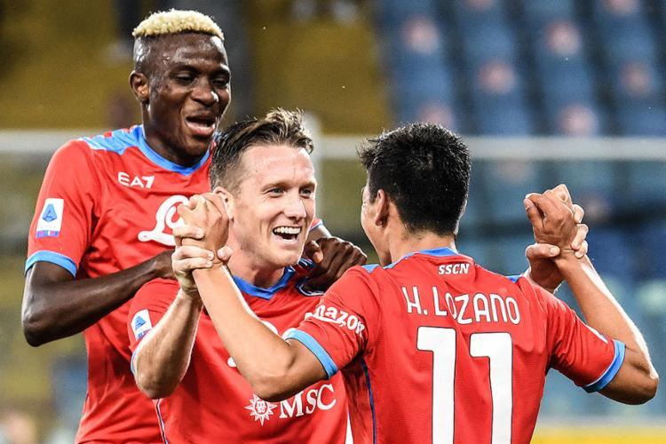 Napoli está com dois pontos a mais que a Inter de Milão (2ª) e o Milan (3º) | Foto: Andreas Solaro | AFP - Foto: Andreas Solaro | AFP