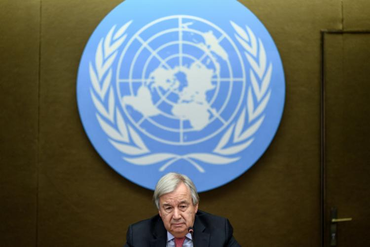 O secretário-geral da ONU, António Guterres, alertou para o aumento da temperatura global - Foto: afp