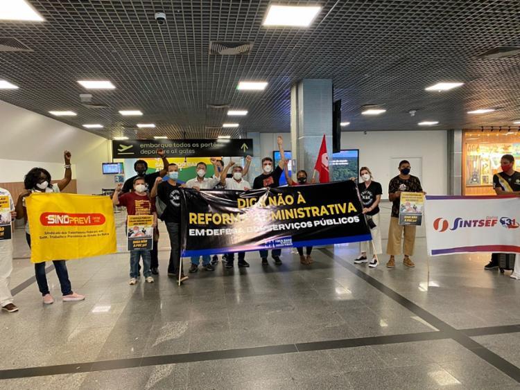 Manifestantes se reuniram do Aeroporto | Foto: Divulgação - Foto: Divulgação