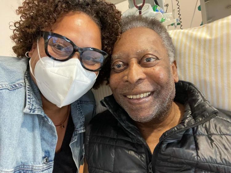 Filha explicou que o quadro de Pelé está condizente à sua idade | Foto: Reprodução/ Instagram - Foto: Reprodução/ Instagram