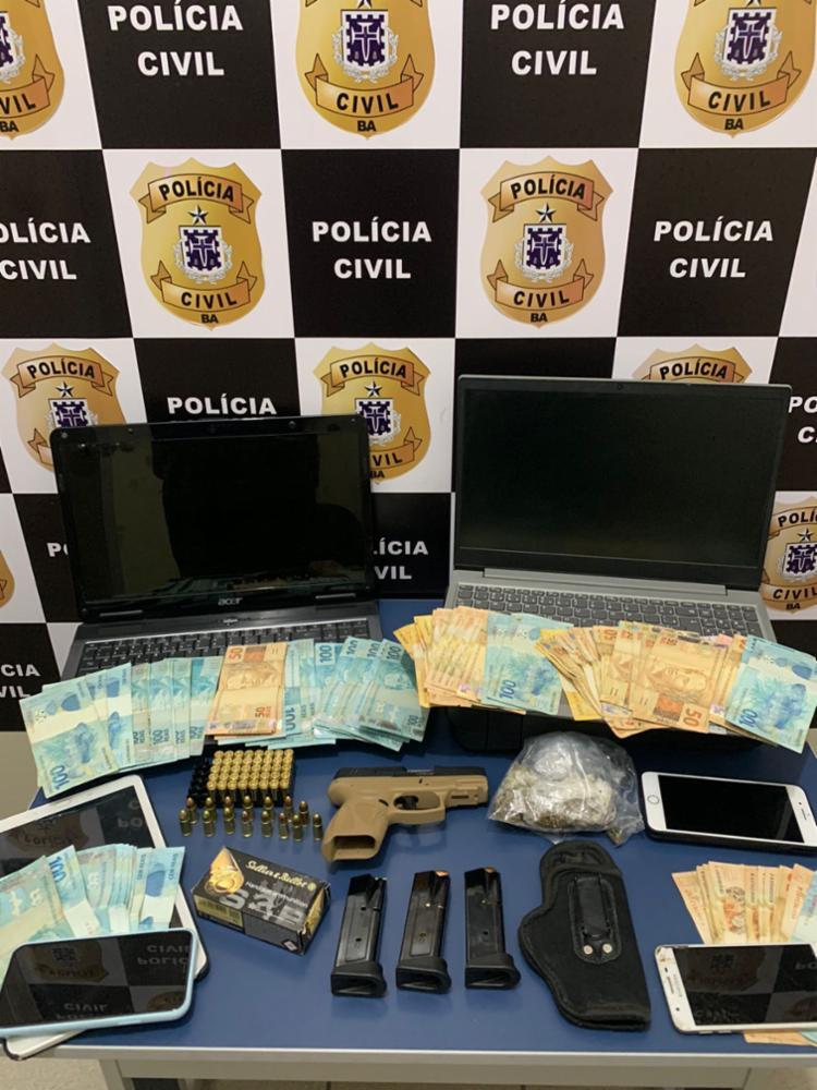 Material apreendido será periciado no Departamento de Polícia Técnica (DPT) | Foto: Divulgação | Polícia Civil - Foto: Divulgação | Polícia Civil