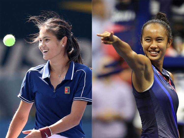 Final feminina entre as tenistas Raducanu e Fernández, de 18 e 19 anos respectivamente, será neste sábado, 11   Foto: AFP - Foto: AFP