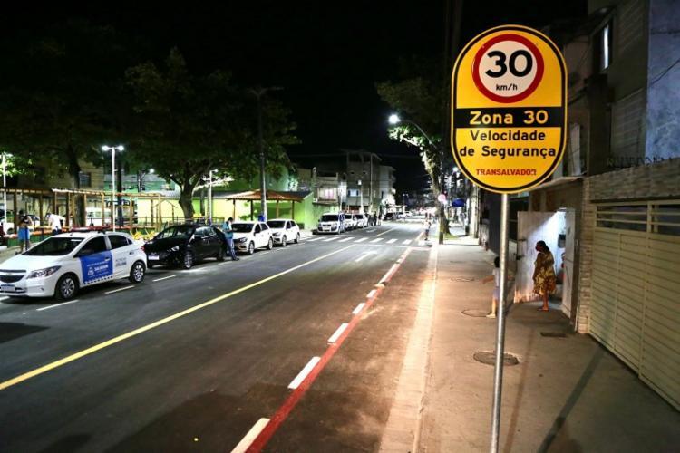 Iniciativa readequa a velocidade máxima de algumas vias para 30 km/h | Foto: Bruno Concha | Secom PMS - Foto: Bruno Concha | Secom PMS