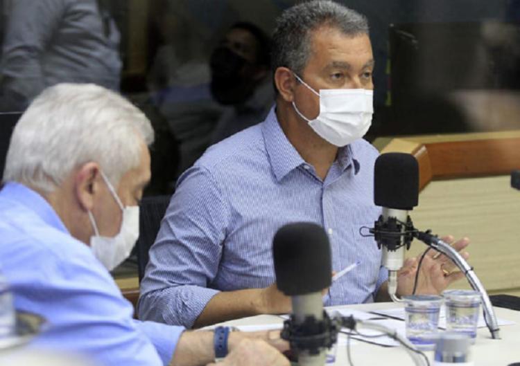 Rui estava acompanhado do senador Otto Alencar (PSD)   Foto: Divulgação   Governo da Bahia - Foto: Divulgação   Governo da Bahia